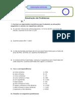 Ficha - Resolução de Problemas