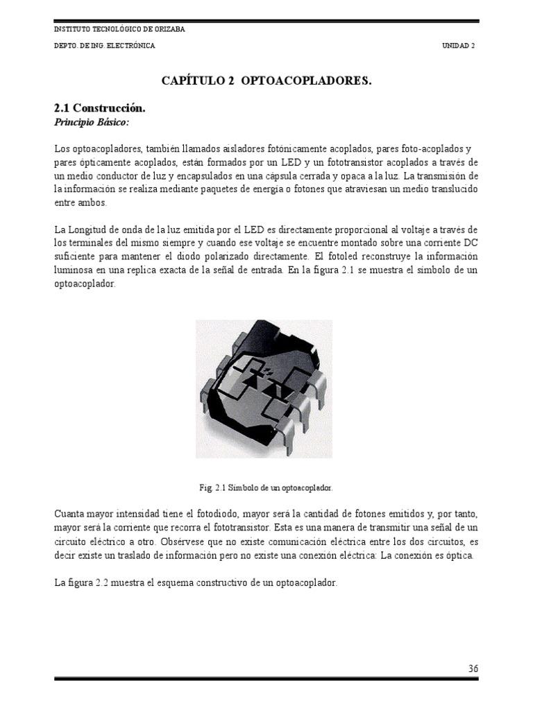 Circuito Optoacoplador : Unidad 2 optoacopladores