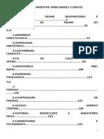 Terceiro Bimestre Habilidades Clinicas