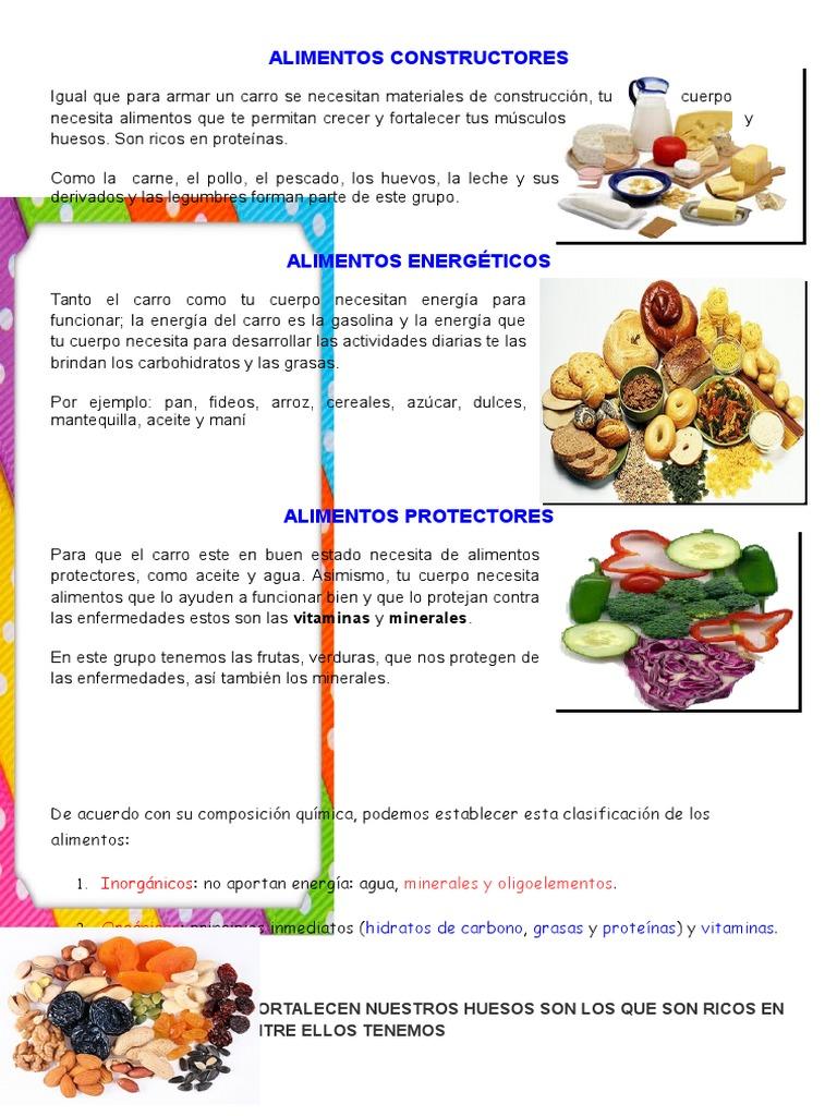 ALIMENTOS CONSTRUCTORES | Chocolate | Alimentos