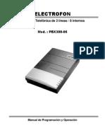 Manual Pbx Electrofon Pbx308-06