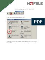2020 Hafele Catalog Installation