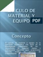 Calculo de Material y Equipo