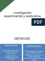 Investigación Experimental y Explicativa