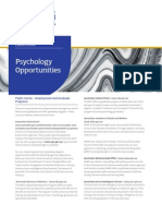Psychology Opportunities