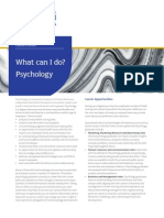 Psychology; What Can I Do