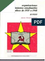 Alfredo Mendoza Cornejo, Organizaciones y movimientos estudiantiles en jalisco de 1935 a 1948. El FESO pdf