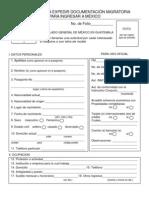 Formulario visa mexicana FM-3