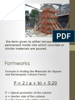 Estimate Lesson 2 Formworks