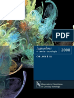 Indicadores de Ciencia-Tecnologia e Innovación (Colombia 2008)