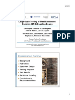 Large-Scale Testing of Steel Reinforced Concrete (SRC) Coupling Beams