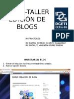 Edicion de Blog