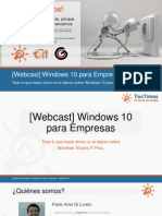Windows 10 Para Empresas (Sesión 1 de 2)