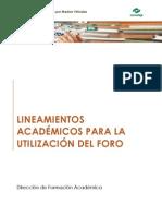 Lineamientos Académicos Para El Uso de Foros
