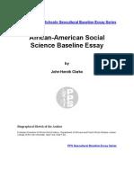 African American Social Science Baseline Essay by John Henrik Clarke