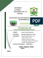 Monografia de Tecnicas Voltamperometricas