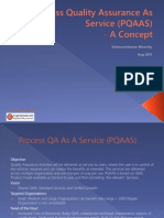 Process Quality Assurance as Service