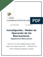 Modos de Operación Biorreactores