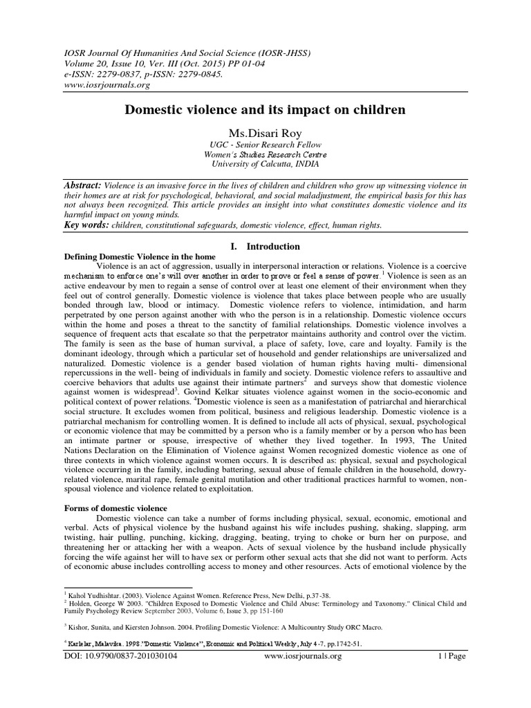 Article review domestic violence with children big essay 500 words