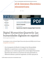 Digital Humanities Quarterly - Las humanidades digitales en español _ Red de Literatura Electrónica Latinoamericana