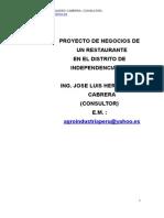 Proyecto de Negocios de Un Restaurante en Independencia Lima