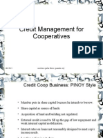 Credit Management for Cooperatives