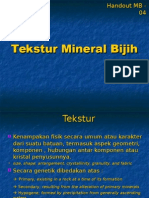Texture of Ore Minerals