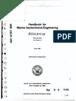 Handbook for Marine Geotechnical Engineering