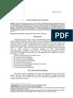 Seven Models of Planning