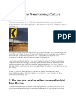 16 Lessons in Transforming Culture