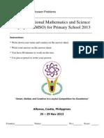Imso 2013 Math_short Answer