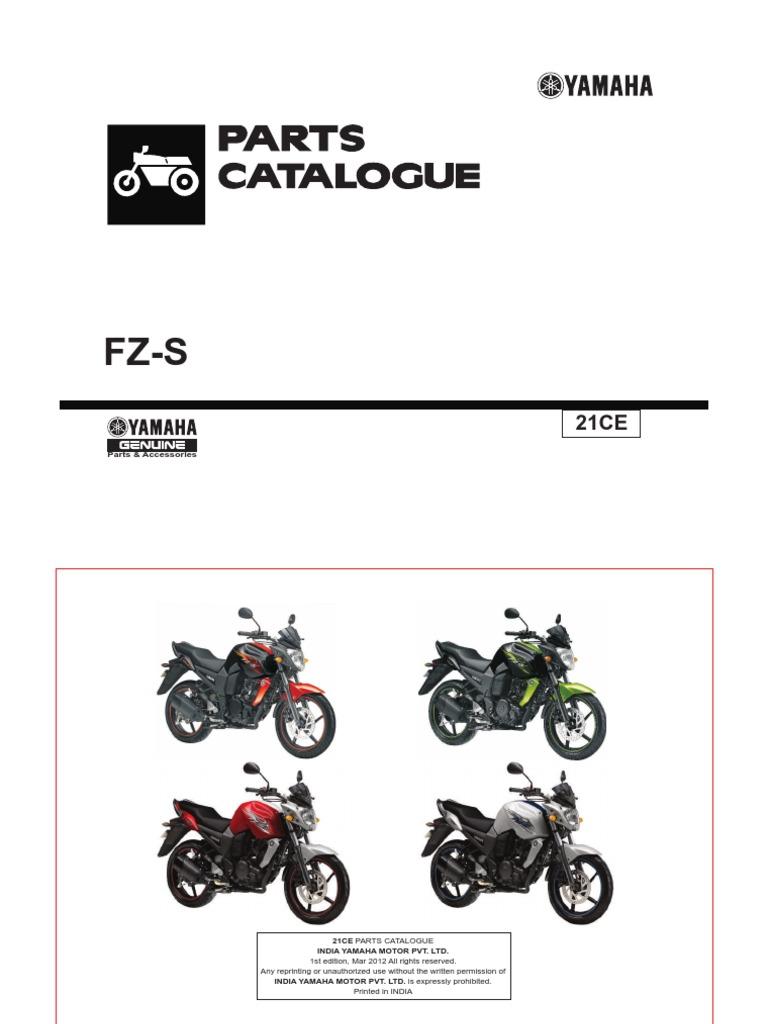 YAMAHA FZ-S CATALOGUE | Clutch | Screw