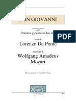 Don Giovanni Libretto