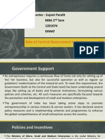 Roleofcentralgovernmentinentrepreneurship 130710204541 Phpapp02 2
