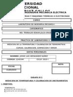 MEDICION DE LA TEMPERATURA Y CALIBRACION DE TERMOMETROS