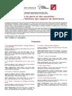 Séminaires Théories Du Genre Présentation Et Dates