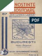 Vintila Mihailescu - Bucureştii Schiţă Geografică