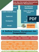 Ruang Lingkup dan Kerangka Konseptual Sistem Pengendalian Manajemen