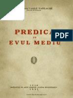 Vasile Vasilache - Predica În Evul Mediu