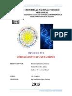 Informe N1 Codigo Genetico y Mutaciones