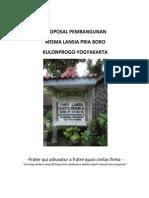 Proposal Pembangunan Wisma Lansia Pria di Boro, Kulonprogo, Yogyakarta, Jawa Tengah