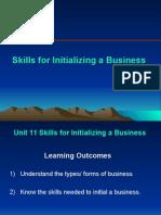English Unit 11 Skill to Initializing Up Business