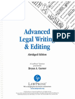 Advanced Legal Witing & Editing