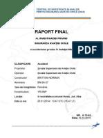 Raportul final privind accidentul din Apuseni