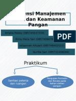 Asistensi Manajemen Mutu Dan Keamanan Pangan