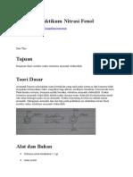 Laporan Praktikum Nitrasi Fenol