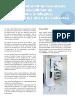 La mamografía-3D-tomosintesis mejora la sensibilidad de la mamografía analógica, reduciendo las dosis de radiación