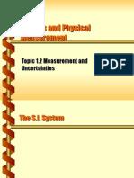 Units & Measurement (Part -II)