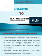 Ampoule Inspection Machine - N.K Industries