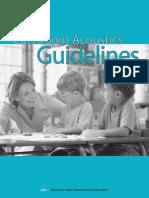 Classroom Acoustics Guidelines